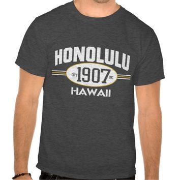 HONOLULU HAWAII 1907 CITY INCORPORATED GRAPHIC TEE