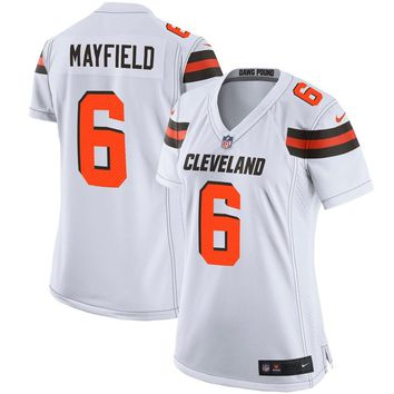 Women's Cleveland Browns Baker Mayfield Nike White Player Game Jersey
