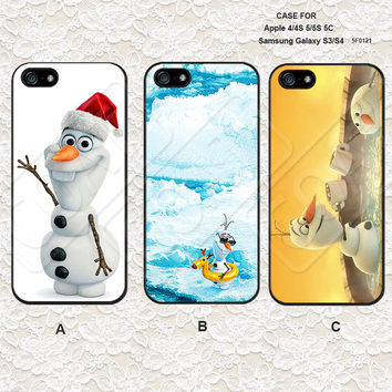 Disney Frozen olaf iPhone 5 Case, iPhone 4 Case, iPhone 5C Case, iPhone 5S Case, Samsung Galaxy S3/S4 Case iPhone Case - 5F0121