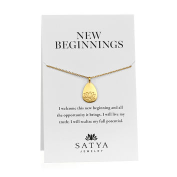 Gold Arise Carded Necklace