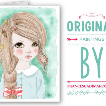 Greeting Cards - Autumn Dolls - Instant Download