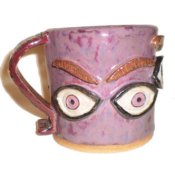 Eye Coffee Cup (27) With Molded Eyes and Eyebrows