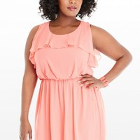 Plus Size Rowen Ruffle Chiffon Dress | Fashion To Figure