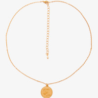 I Love You Coin Charm Necklace