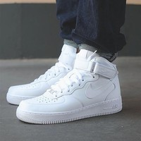 NIKE Women Men Running Sport Casual Shoes Sneakers Air force high tops and Low help sh