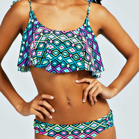 California Bright Floaty Crop Bikini