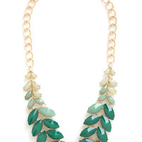 ModCloth Boho Berry Good Harvest Necklace in Greenery