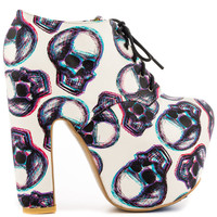 Iron Fist - Third Dim Plat Bootie - Wht