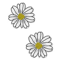 DAISY: WHITE AND YELLOW WITH BLACK FLOWER NIPPLE PASTIES