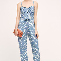 Knotted Dot Jumpsuit