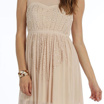 Elegance and Grace Dress - Champagne