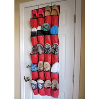 Evelots 20 Pocket Over The Door Hanging Shoe Organizer, Space Savers & Storage