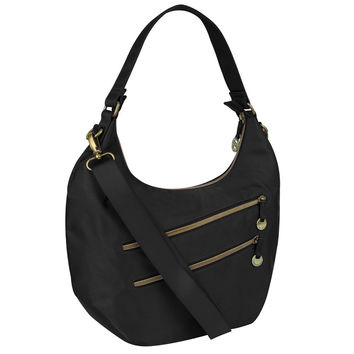 Travelon Hack-Proof Convertible Hobo with RFID Protection - Black