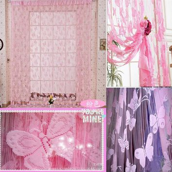 Window Ventilation Household Products Bedroom Curtain Jacquard Curtain Balcony Supplies Butterfly Curtain Curtain Lace Fabric La