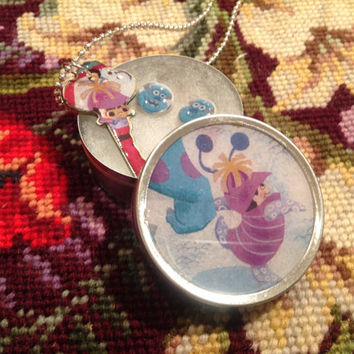 Disney Pixar's Monsters Inc. Boo Altered Art Key Necklace and Earrings Set