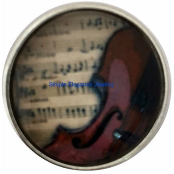 Music-Violin Snap 20mm for Snap Charm Jewelry (2003)