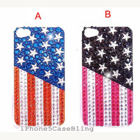 iPhone 4 Case, iPhone 4s Case, iPhone 5 Case, iPhone 5 bling case, Bling iPhone 4 case,  Cute iPhone 4 case, USA flag iphone 4 case