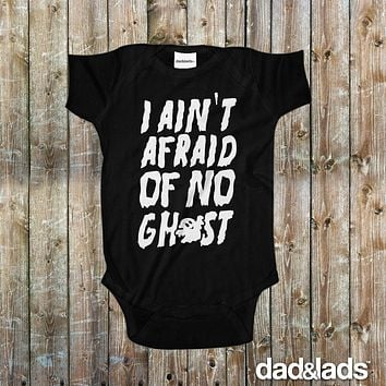 I Ain't Afraid Of No Ghost Ghostbusters Halloween Baby Onesuit