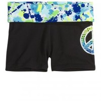 Paint Splatter Waistband Yoga Shorts | Girls Active Shorts | Shop Justice