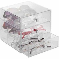InterDesign Storage and Organization Drawers, Glasses, Original 3-Drawer - Walmart.com