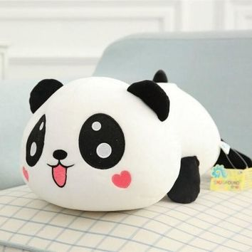 Quality Standing Cute PANDA Pillow BEAR Stuffed Animal Plush Soft Toy Cute Doll Gift Pillow
