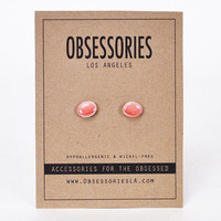 French Macaron Earring Pink Macaron Cookie Small Stud Earrings Tiny Miniature Food Macaron Jewelry Macaron Accessories Quirky Macaron Gift