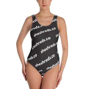 Colleen One-Piece Swimsuit - SheShreds Graphic