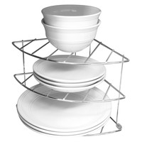 Evelots 3 Tier Cabinet & Counter Shelf Organizer, Kitchen Storage Shelves