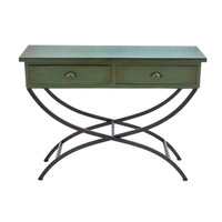 Woodland Imports Metal Wood Console Table & Reviews | Wayfair