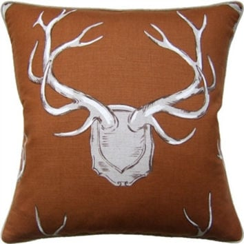 Brown - Antlers Pillow