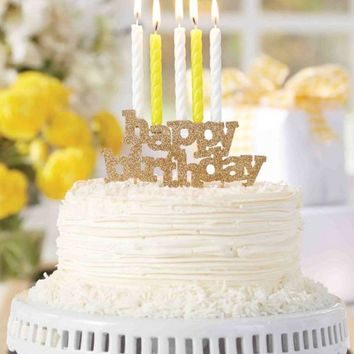 Happy Birthday Candle Holder Cake Topper | Monday Dress Boutique
