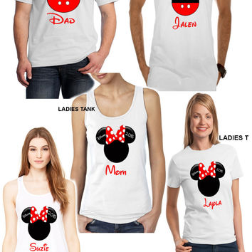 6 Disney Vacations Tshirts - Multiple Colors Available
