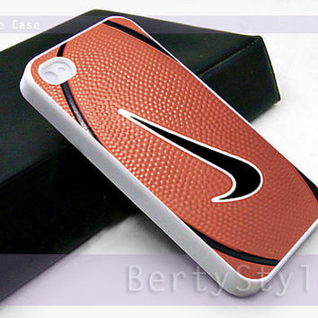 Iphone Case - Iphone 4 Case - Iphone 5 Case - Samsung s3 - samsung s4 -Nike Basketball Logo - Photo Print on Hard Plastic