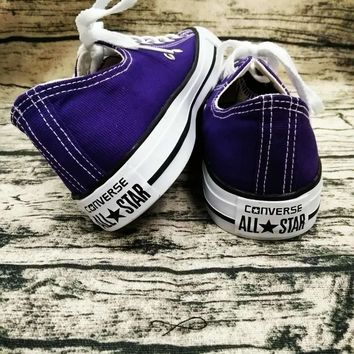 Converse Trending Fashion Casual Running Canvas Flats Sneakers Sport Shoes Purple G