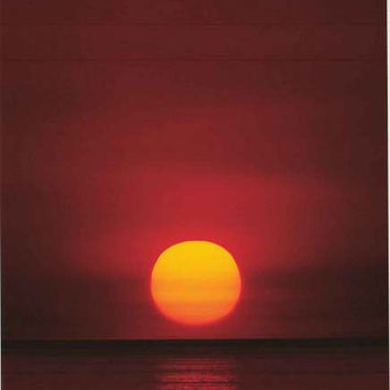 Tropical Beach at Sunset Poster 24x36
