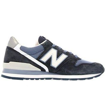 LMFON new balance m996cpi navy white suede mens running shoes made in usa