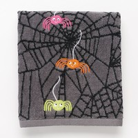 Halloween Spider Hand Towel (Grey)