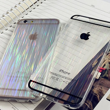 Laser Transparent Iphone 5s 6s 6 plus Cases