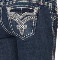 Rock Revival Darcy Clean Dark Wash Capri Jean