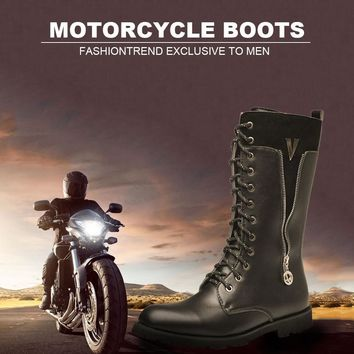 Men's Motorcycle Boots Motorbike Riding Artificial Leather Punk Dr Martin style Shoes