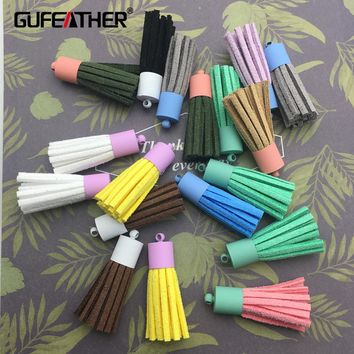GUFEATHER L37/3.5cm Metal loop Maccaron tassel/tassel/jewelry accessories/accessories parts/jewelry findings/hand made 4pcs/bag