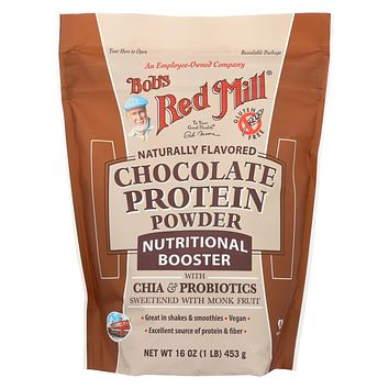 Bob's Red Mill - Chocolate Protein Powder Nutritional Booster - 16 oz - Pack of 4