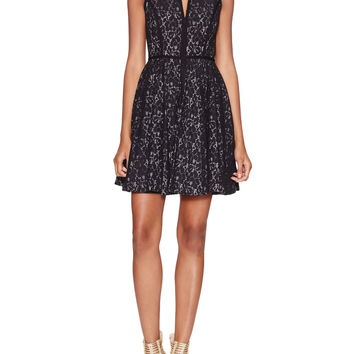 Aria V-Neck Lace Fit & Flared Dress