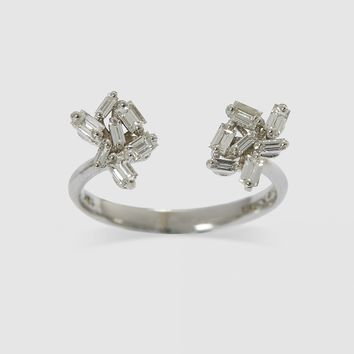 Suzanne Kalan Firework Double Ring (White Gold)