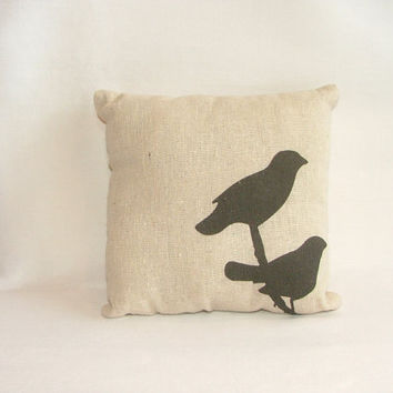 SALE - Silhouette Bird Pillow