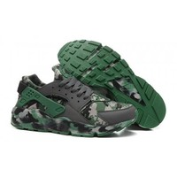 Men s Nike Air Huarache Trainers Camo Jungle
