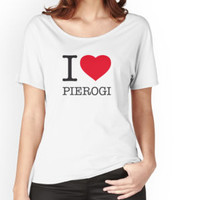 'I ♥ PIEROGI' Women's Relaxed Fit T-Shirt by eyesblau