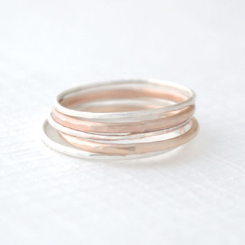 Mixed Stacked Rings - stacking rings - 4214
