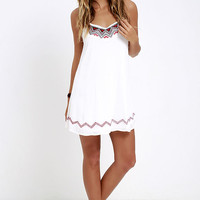 Living the Dream Ivory Embroidered Dress