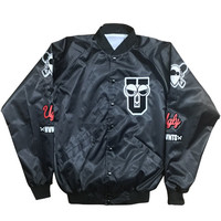 Branded Satin lightweight baseball jacket
